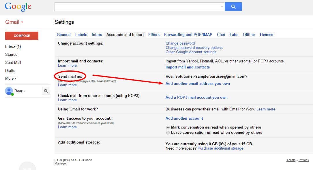 Gmail Roar Help Desk